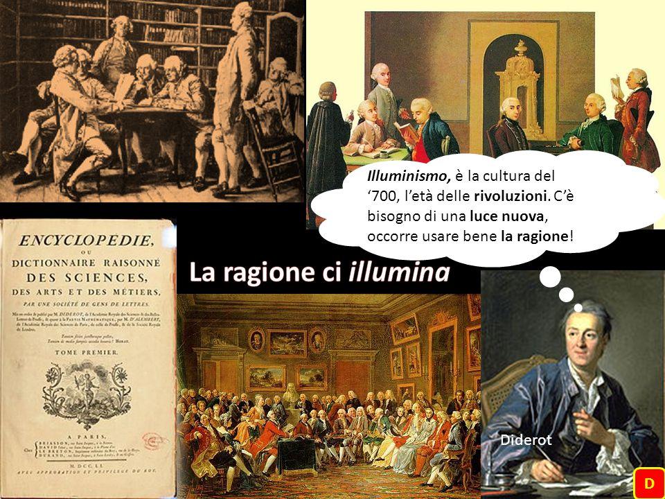 Illuminismo, è la cultura del '700, l'età delle rivoluzioni