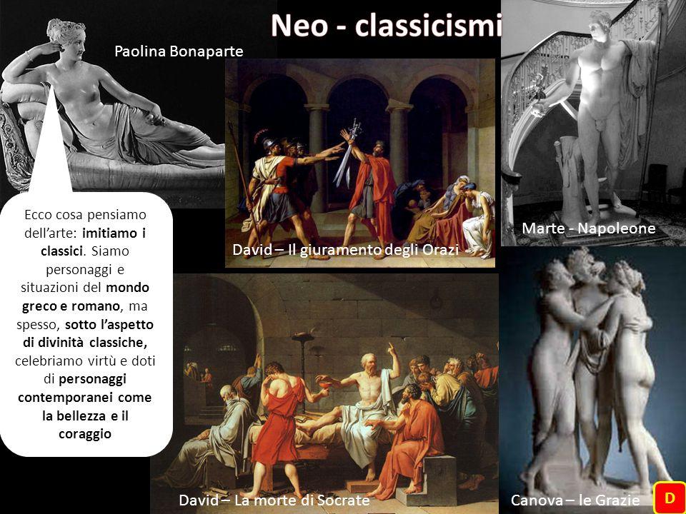 Neo - classicismi Paolina Bonaparte Marte - Napoleone