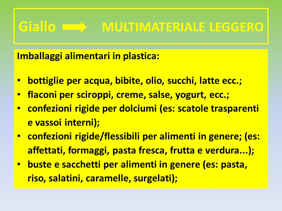 Giallo MULTIMATERIALE LEGGERO