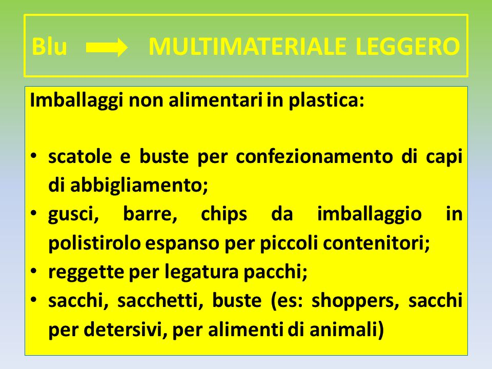 Blu MULTIMATERIALE LEGGERO
