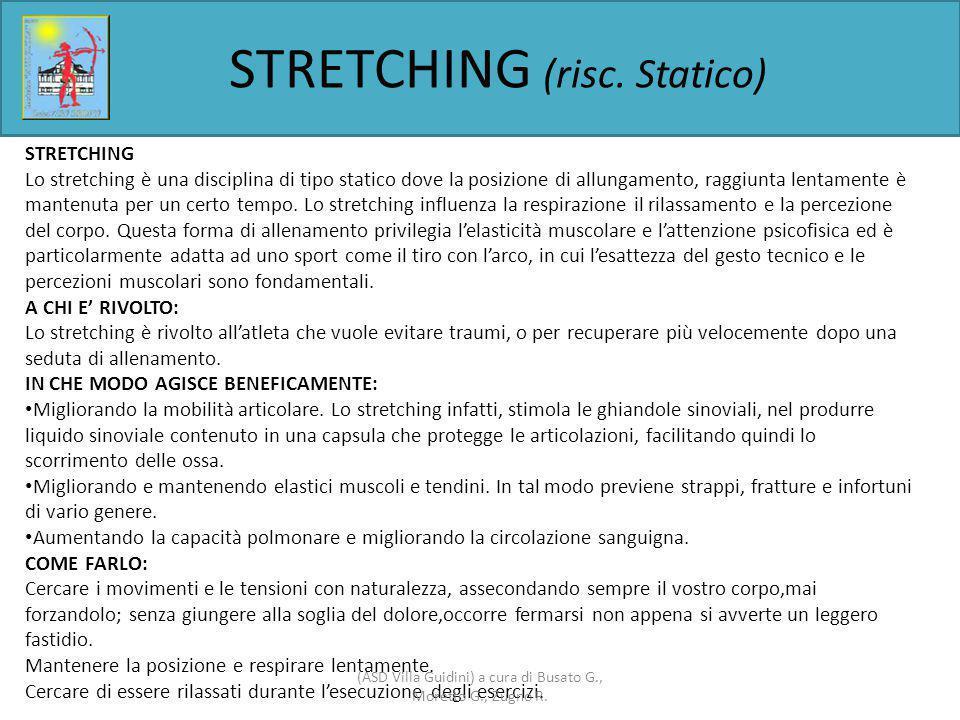 STRETCHING (risc. Statico)
