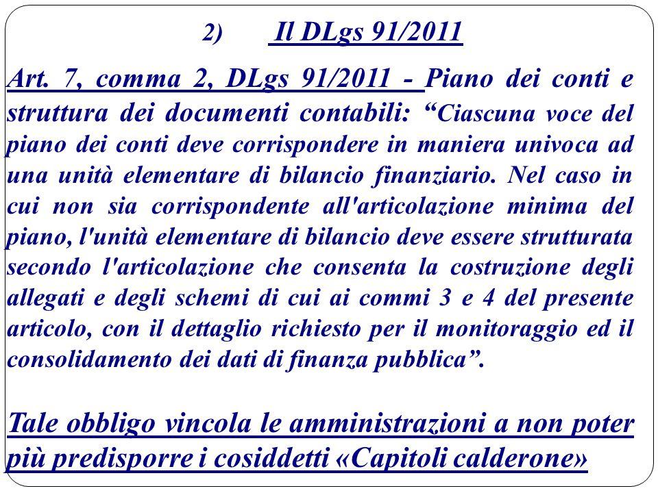 2) Il DLgs 91/2011