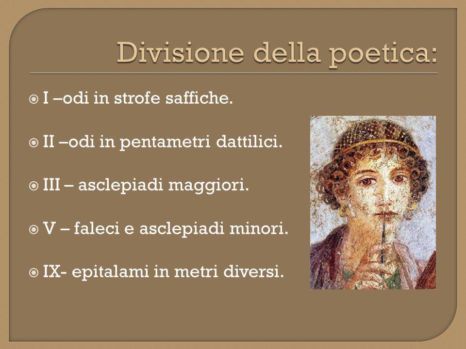 Divisione della poetica: