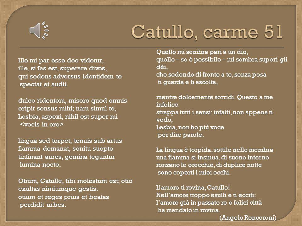 Catullo, carme 51