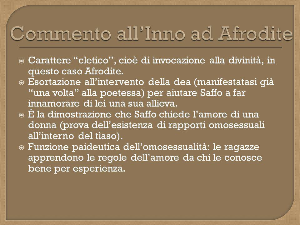 Commento all'Inno ad Afrodite