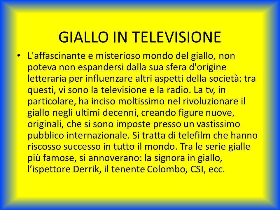 GIALLO IN TELEVISIONE