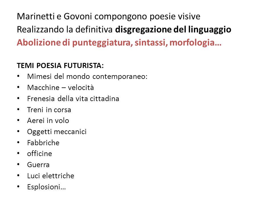 Marinetti e Govoni compongono poesie visive