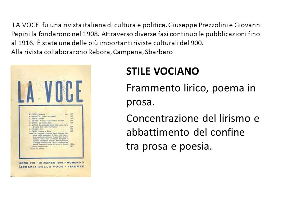 Frammento lirico, poema in prosa.