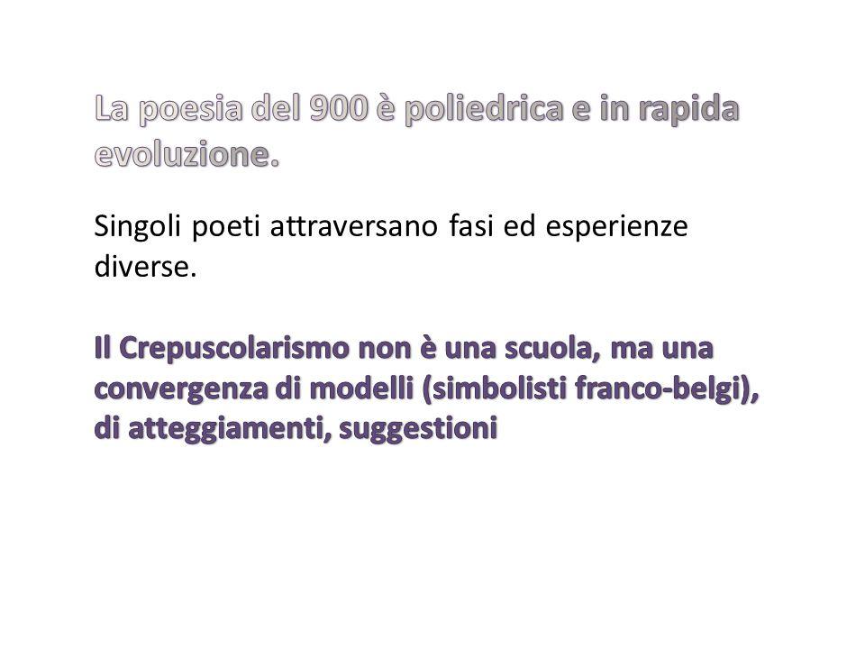 La poesia del 900 è poliedrica e in rapida evoluzione.