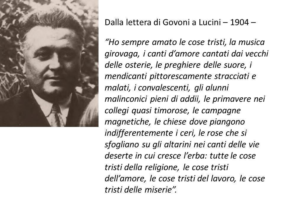 Dalla lettera di Govoni a Lucini – 1904 –