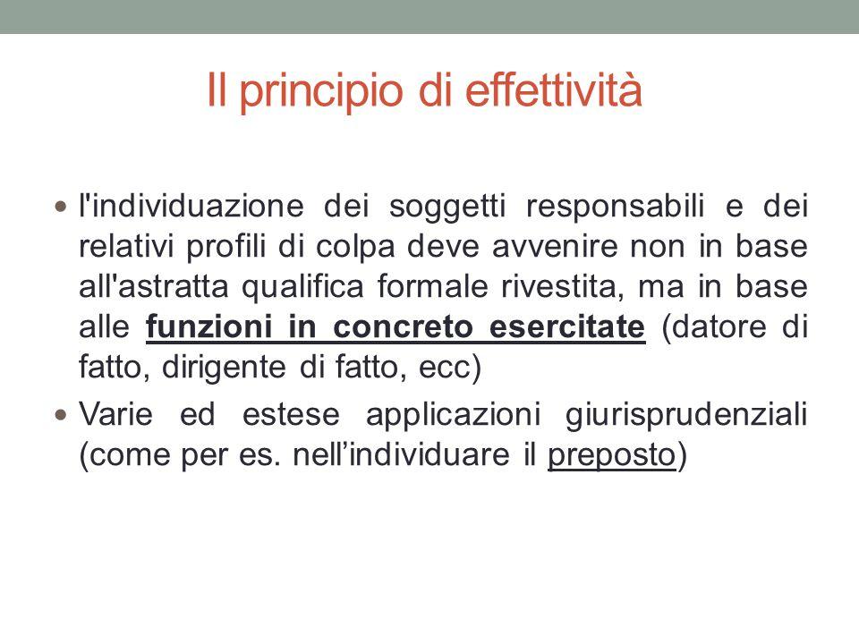 Il principio di effettività