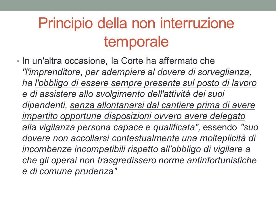 Principio della non interruzione temporale