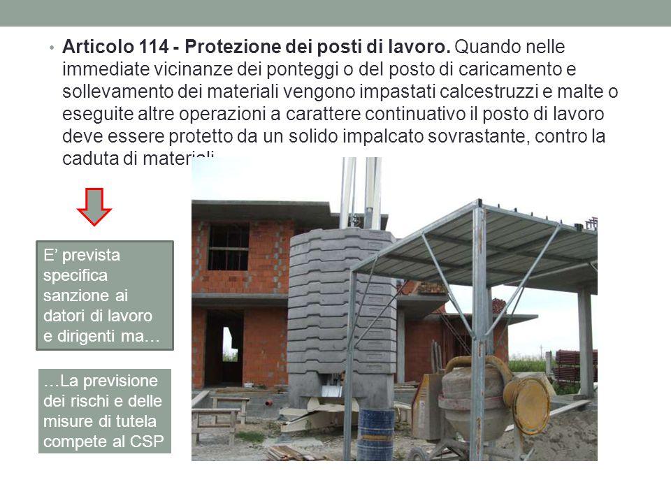 Articolo 114 - Protezione dei posti di lavoro