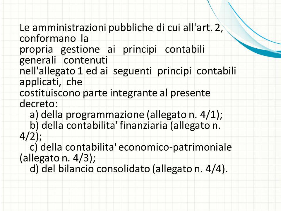 Le amministrazioni pubbliche di cui all art. 2, conformano la