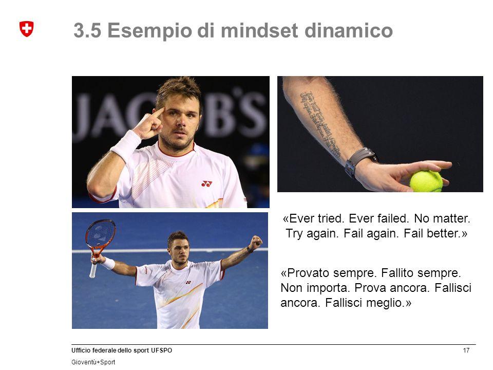 3.5 Esempio di mindset dinamico