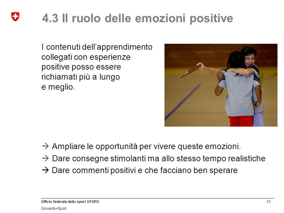 4.3 Il ruolo delle emozioni positive
