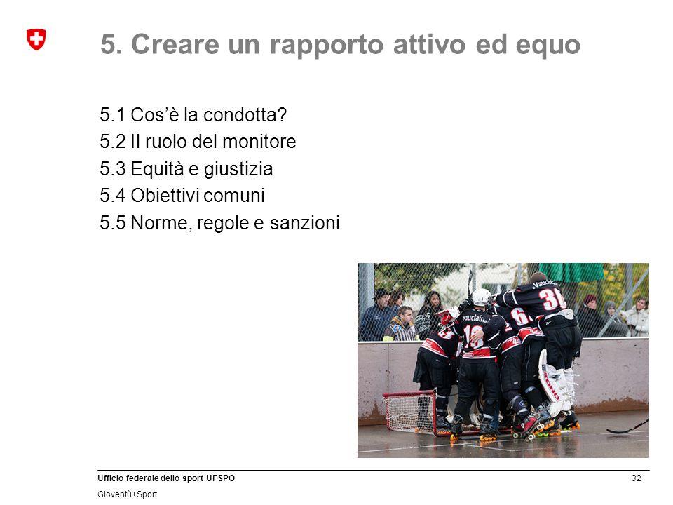 5. Creare un rapporto attivo ed equo