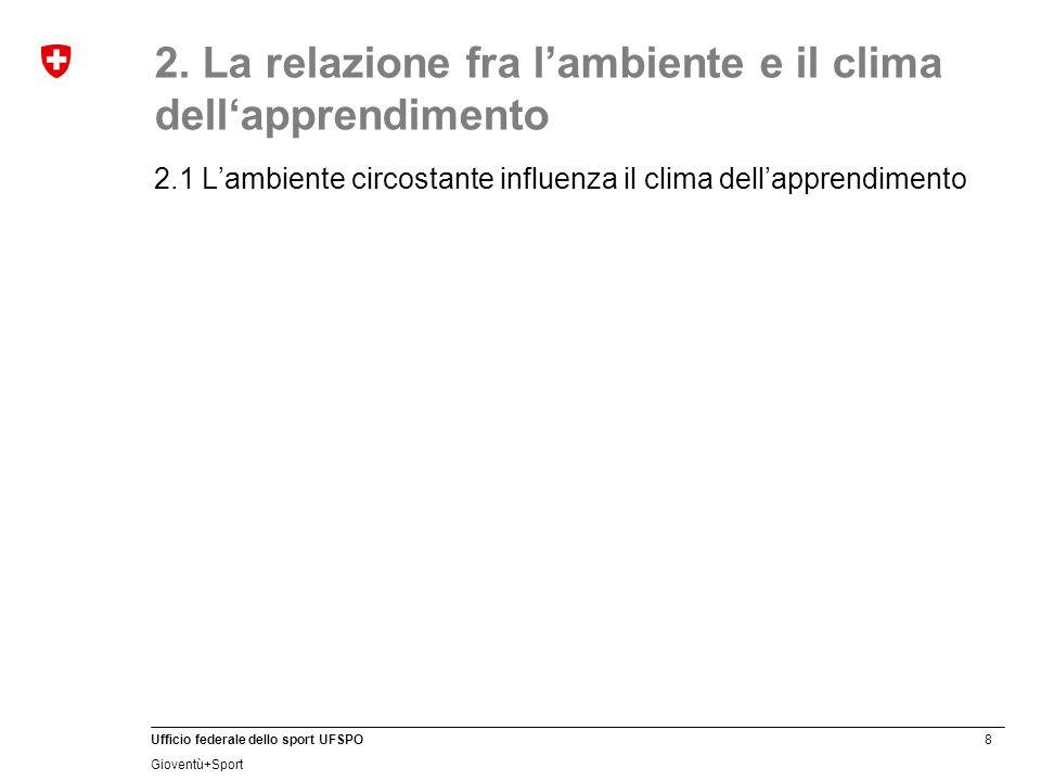 2. La relazione fra l'ambiente e il clima dell'apprendimento