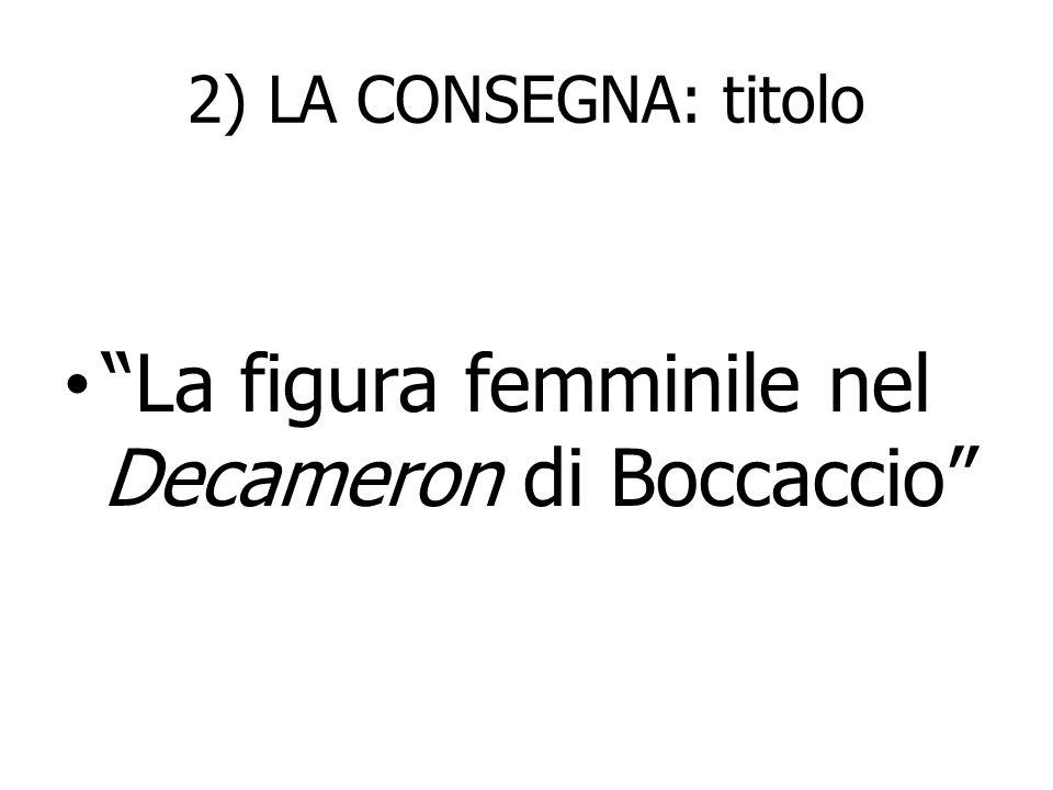 La figura femminile nel Decameron di Boccaccio
