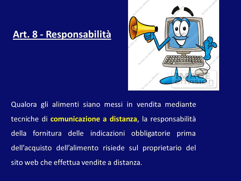 Art. 8 - Responsabilità