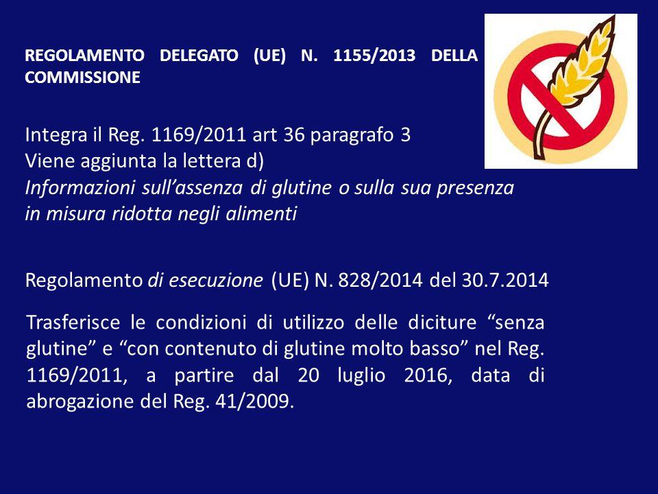 Integra il Reg. 1169/2011 art 36 paragrafo 3