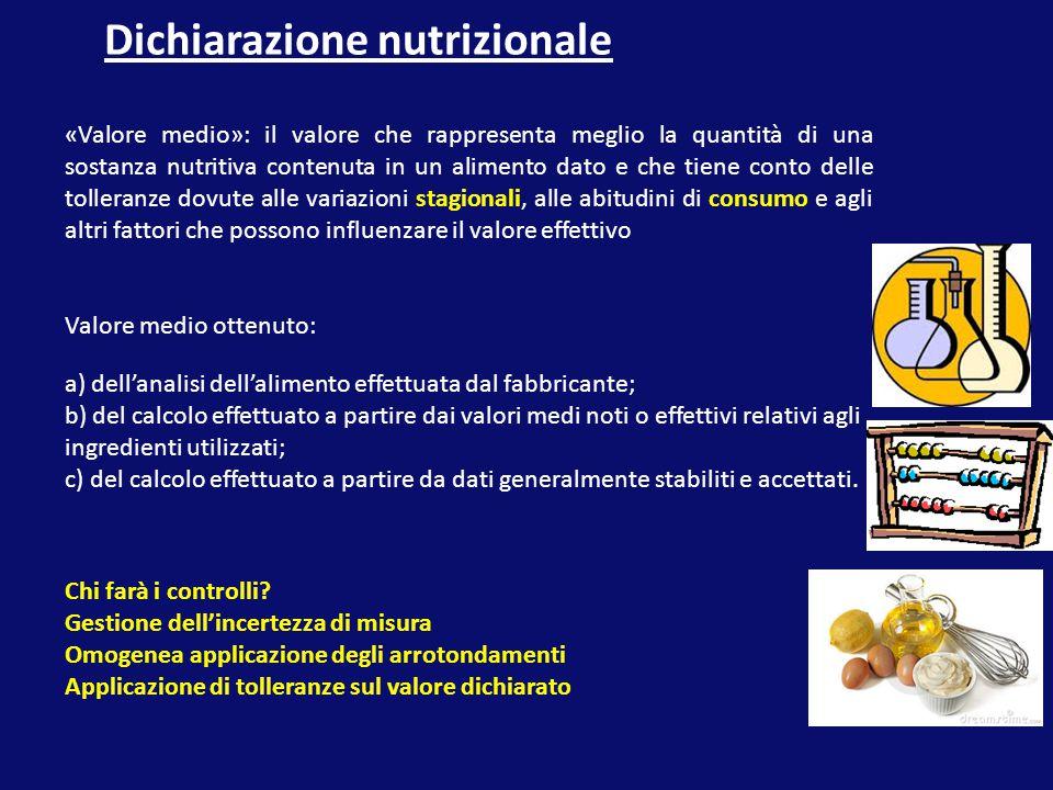 Dichiarazione nutrizionale
