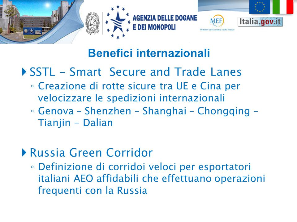 Benefici internazionali