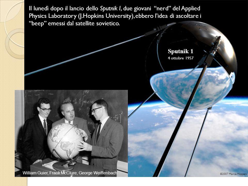 Il lunedì dopo il lancio dello Sputnik I, due giovani nerd del Applied Physics Laboratory (J.Hopkins University), ebbero l'idea di ascoltare i beep emessi dal satellite sovietico.