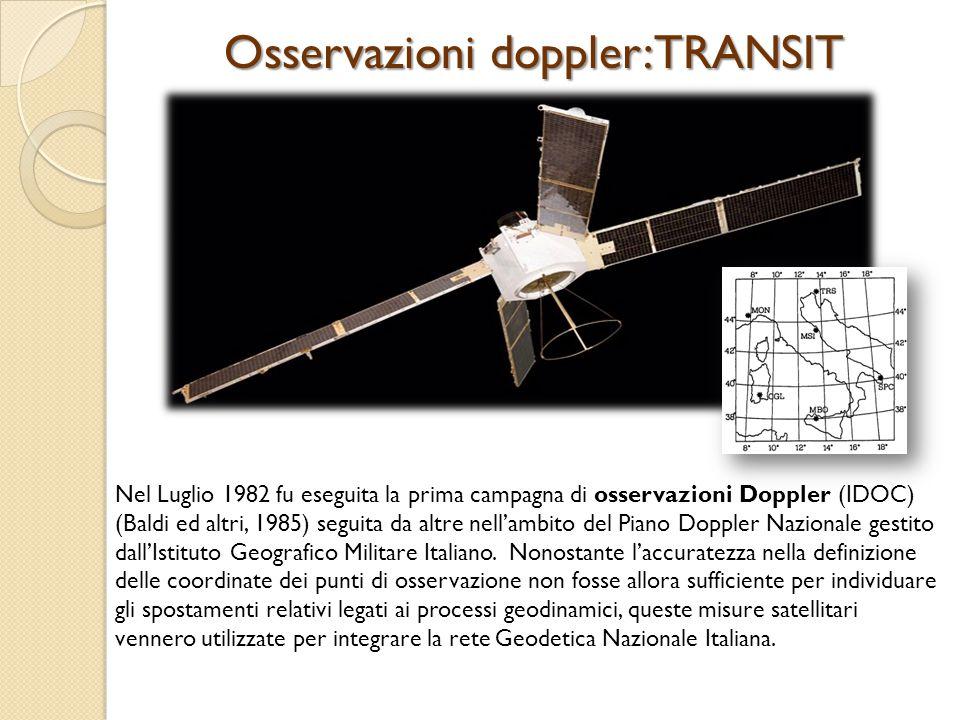 Osservazioni doppler:TRANSIT