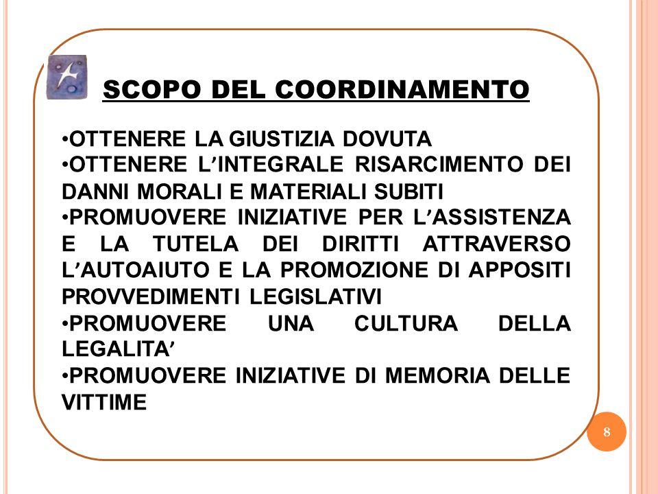 SCOPO DEL COORDINAMENTO