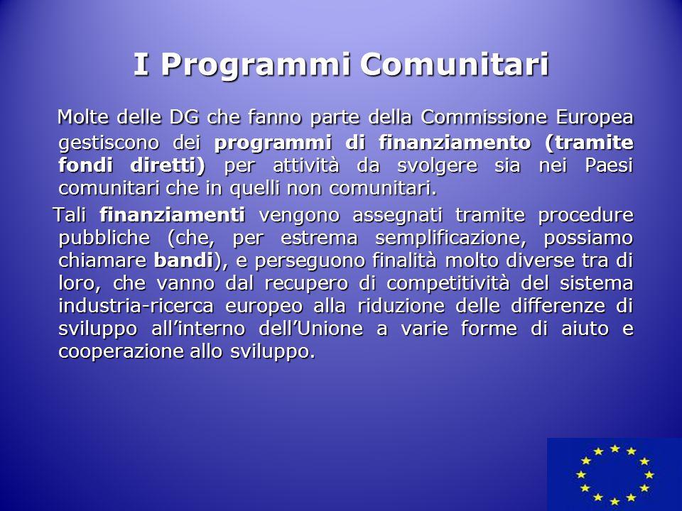 I Programmi Comunitari