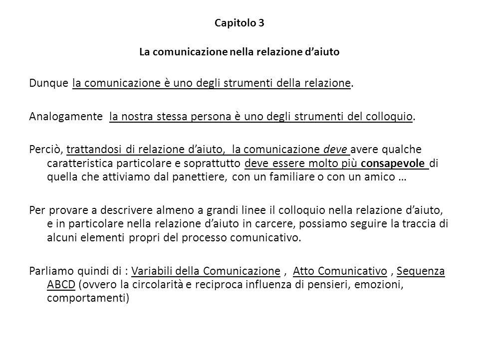 Capitolo 3 La comunicazione nella relazione d'aiuto