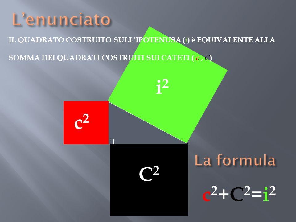 i2 i c2 c C C2 c2+C2=i2 L'enunciato La formula