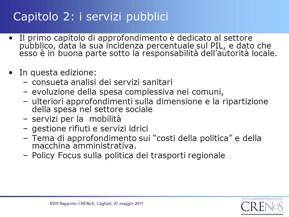 Capitolo 2: i servizi pubblici