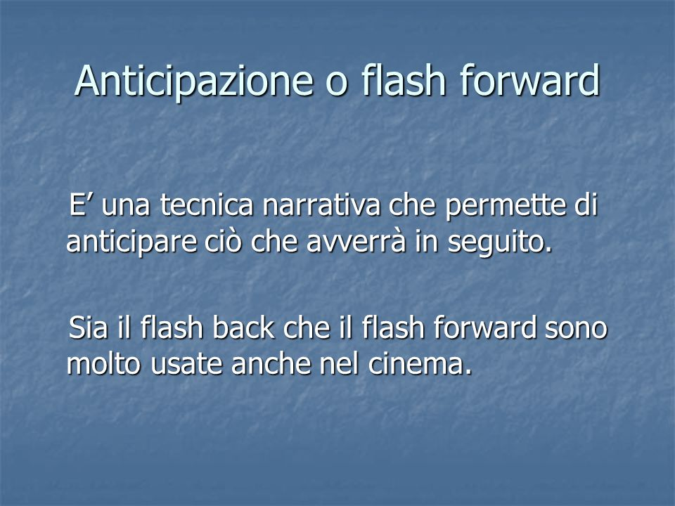 Anticipazione o flash forward