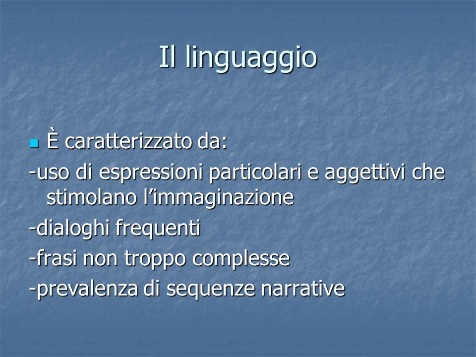 Il linguaggio È caratterizzato da: