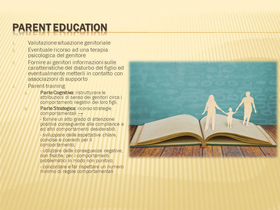 PARENT EDUCATION Valutazione situazione genitoriale