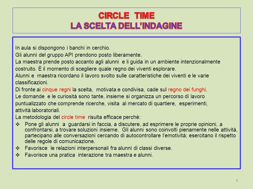 CIRCLE TIME LA SCELTA DELL'INDAGINE