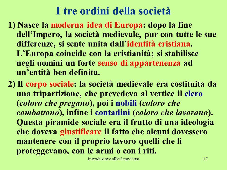 I tre ordini della società