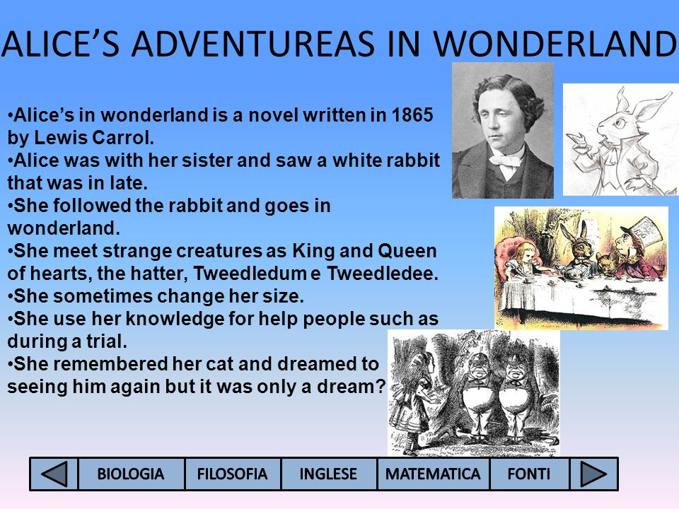 ALICE'S ADVENTUREAS IN WONDERLAND