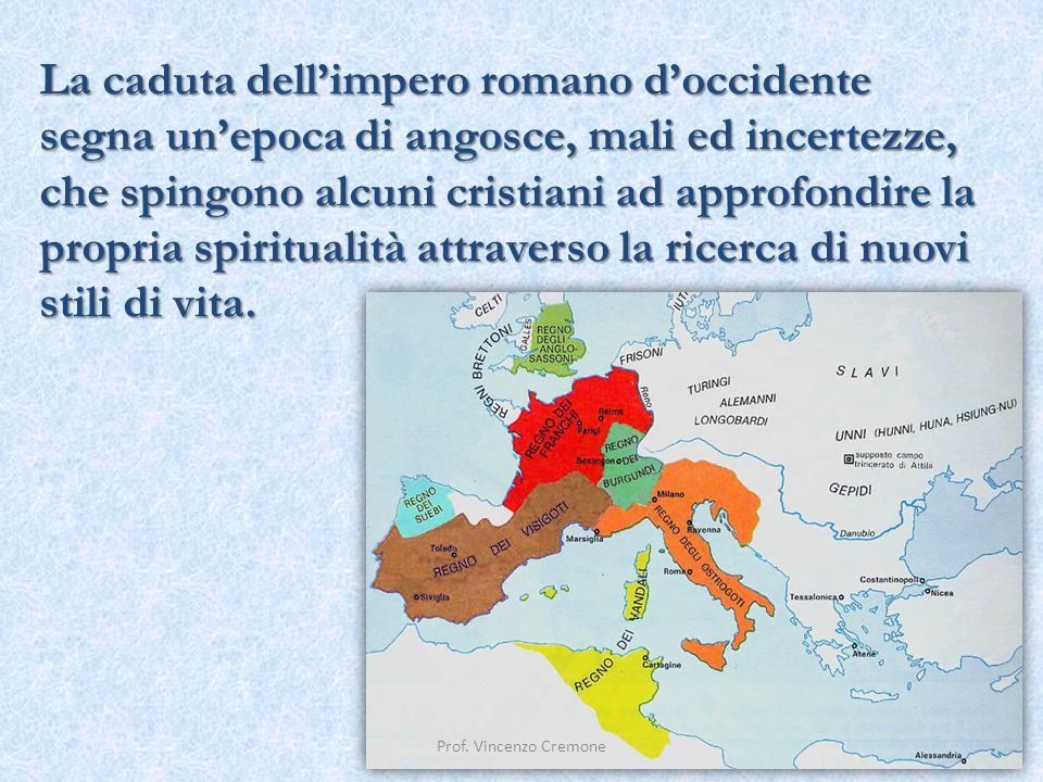 La caduta dell'impero romano d'occidente