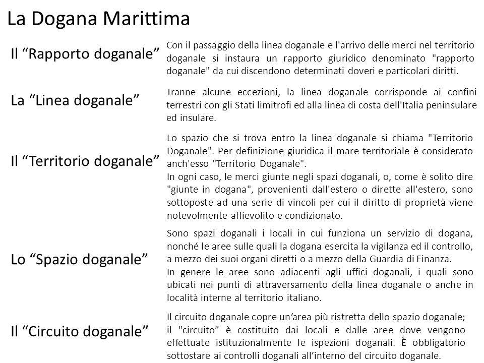 La Dogana Marittima Il Rapporto doganale La Linea doganale