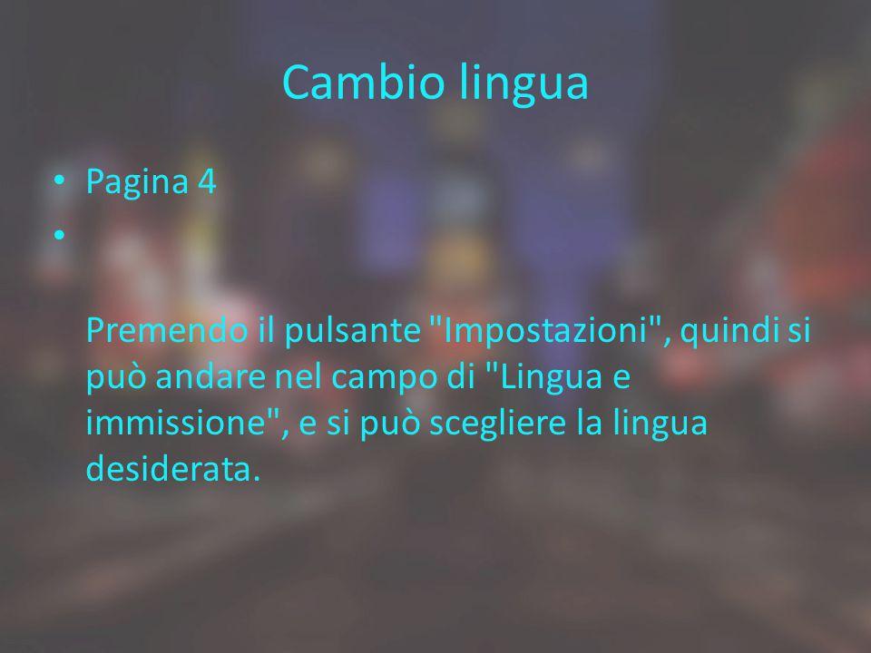 Cambio lingua Pagina 4.