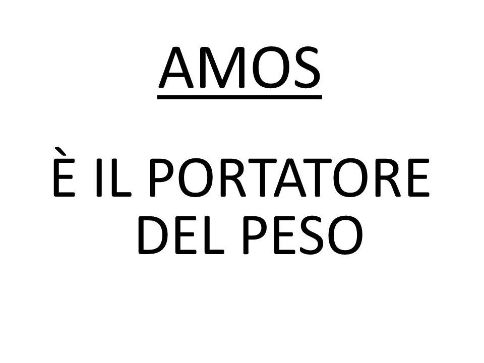 AMOS È IL PORTATORE DEL PESO