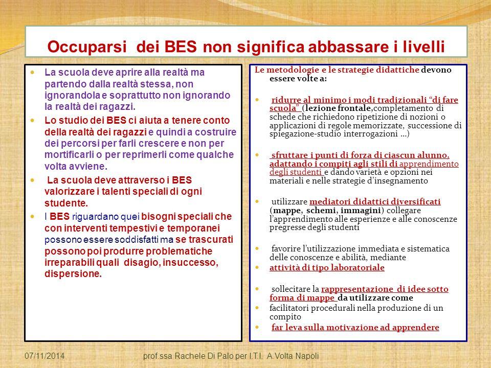 Occuparsi dei BES non significa abbassare i livelli