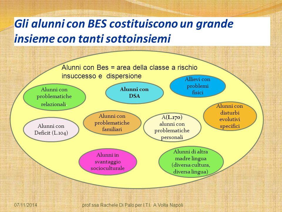 Gli alunni con BES costituiscono un grande insieme con tanti sottoinsiemi