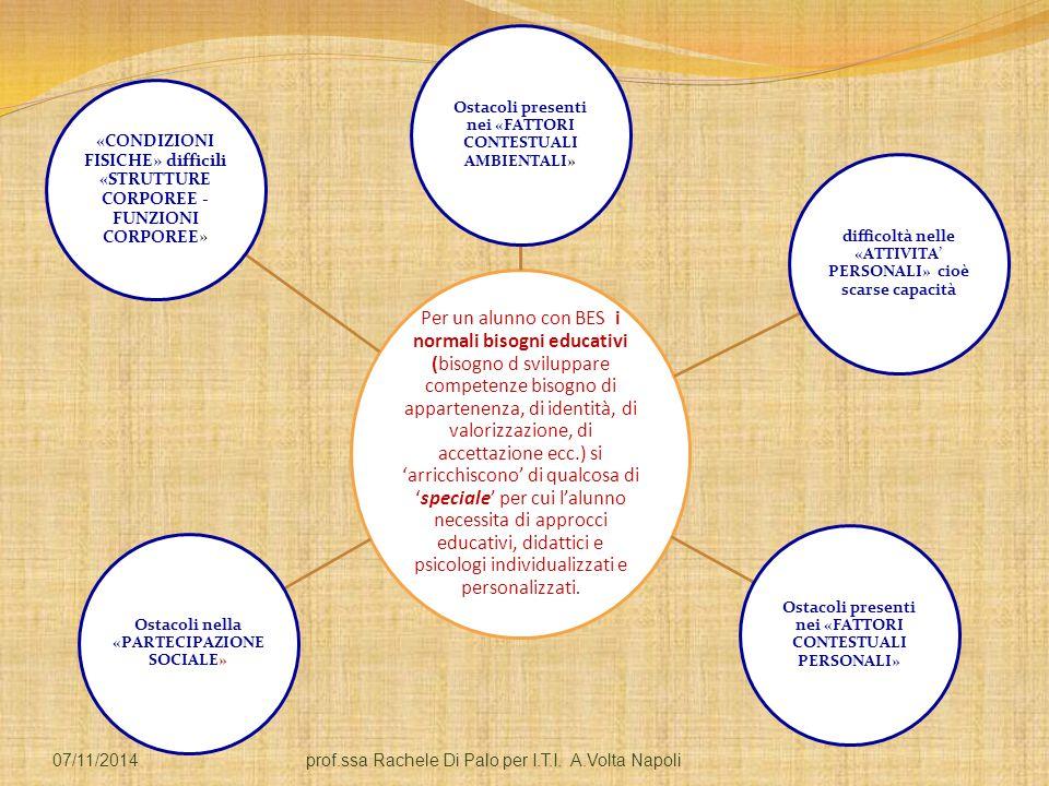 Per un alunno con BES i normali bisogni educativi (bisogno d sviluppare competenze bisogno di appartenenza, di identità, di valorizzazione, di accettazione ecc.) si 'arricchiscono' di qualcosa di 'speciale' per cui l'alunno necessita di approcci educativi, didattici e psicologi individualizzati e personalizzati.