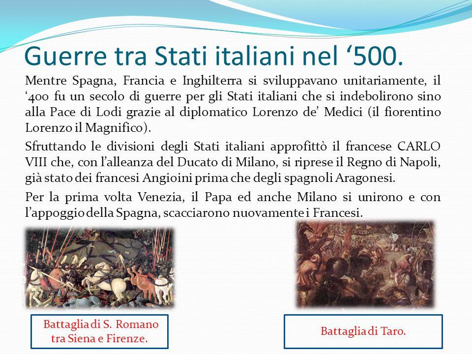 Guerre tra Stati italiani nel '500.