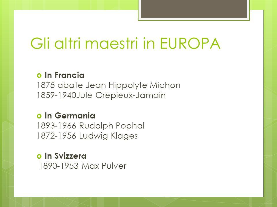 Gli altri maestri in EUROPA