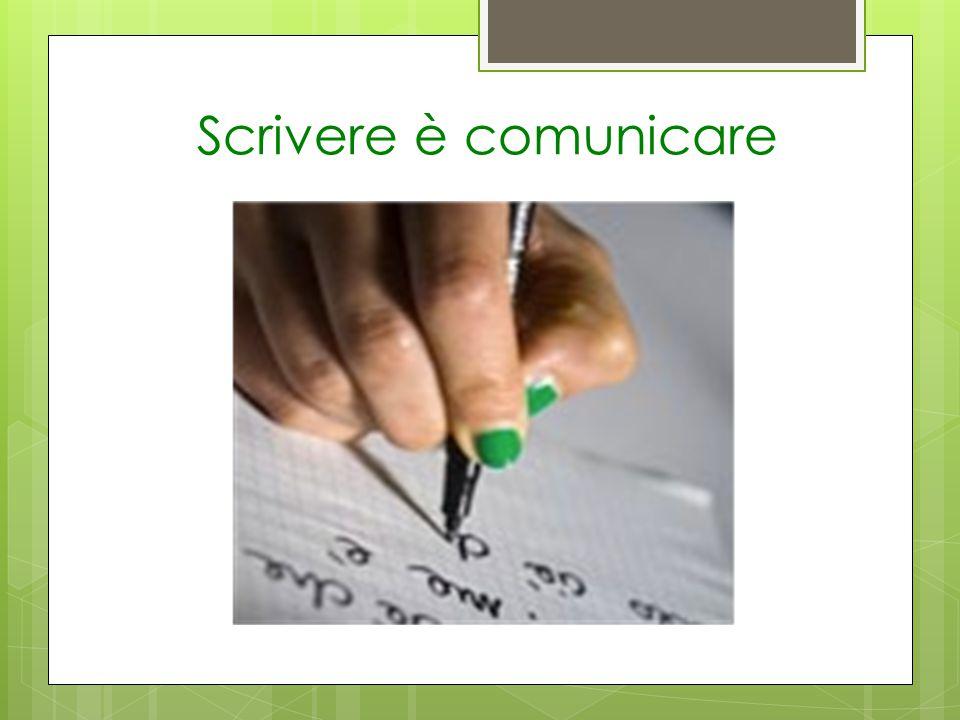 Scrivere è comunicare